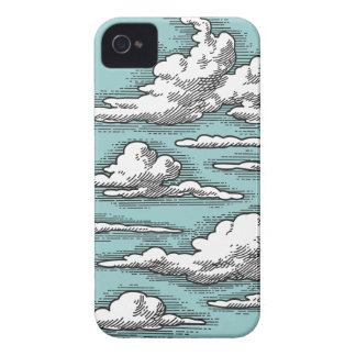 Nubes del vintage iPhone 4 Case-Mate cárcasa