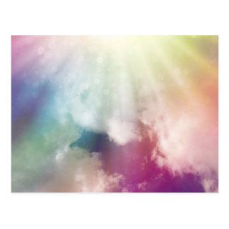 Nubes mágicas postal