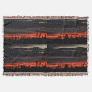 Nubes negras en manta de encargo del tiro de Orión
