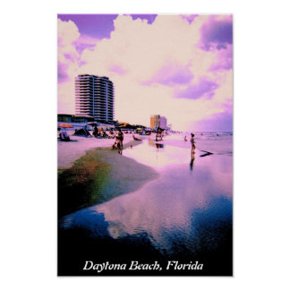 Nubes púrpuras en Daytona Beach Póster