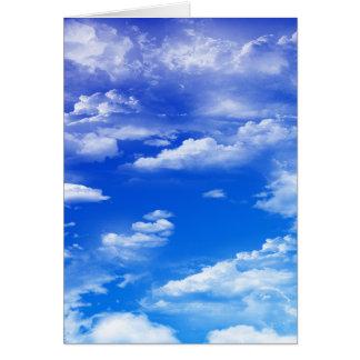 Nubes (retrato) tarjeta de felicitación