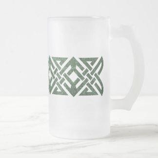 Nudo céltico 4 puntos, granito verde, taza