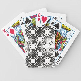 Nudo céltico blanco y negro baraja de cartas bicycle