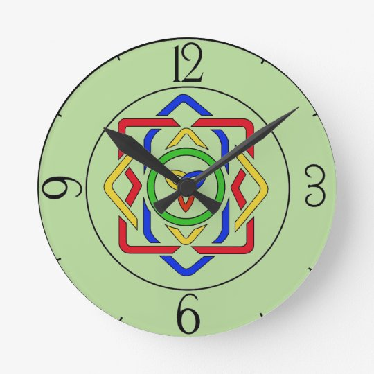 Nudo céltico de la trinidad reloj redondo mediano