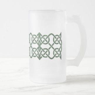 Nudo céltico, granito verde, taza