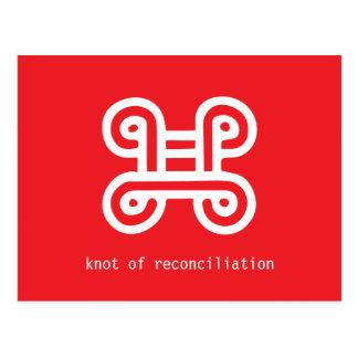 Nudo de reconciliación tarjetas postales