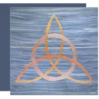 Nudo irlandés de la trinidad céltica inquisitiva invitación 13,3 cm x 13,3cm