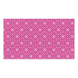 Nudos de amor célticos rosados oscuros tarjetas de visita