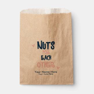 Nueces para uno a bolsos del favor del boda bolsa de papel