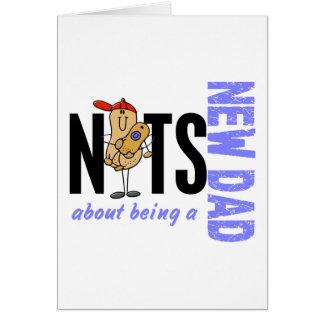 Nueces sobre ser un nuevo papá 1 (azul) tarjeta de felicitación