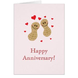 Nueces sobre usted aniversario feliz de los tarjeta de felicitación