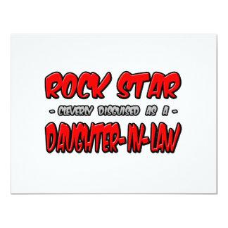 Nuera de la estrella del rock… invitación 10,8 x 13,9 cm