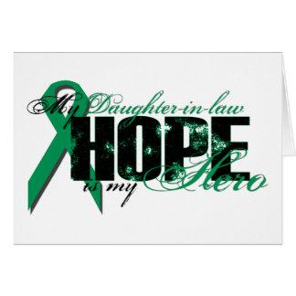 Nuera mi héroe - esperanza del cáncer del riñón tarjeta de felicitación