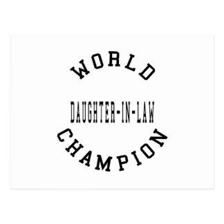 Nuera retra fresca del campeón del mundo postal