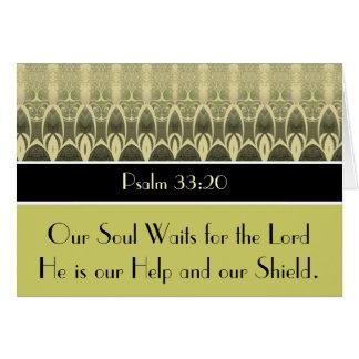 Nuestra alma espera al señor tarjetón