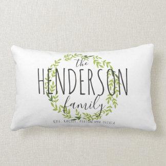 Nuestra almohada de tiro personalizada familia