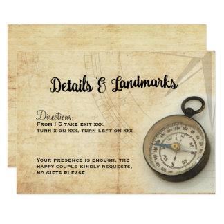 Nuestra aventura continúa la tarjeta de detalles invitación 8,9 x 12,7 cm