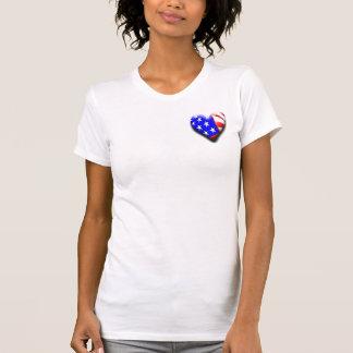 Nuestra bandera tridimensional exclusiva del coraz camiseta