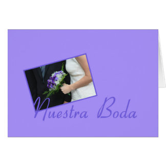 Nuestra Boda - invitación española del boda Tarjeta De Felicitación