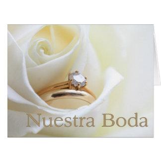 Nuestra Boda - invitación española del boda Tarjeta De Felicitación Grande