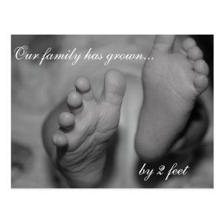 Nuestra familia ha crecido por 2 pies de postal re