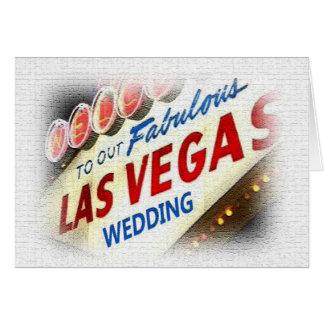 Nuestra invitación de boda de Las Vegas Tarjeta De Felicitación