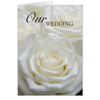 Nuestra invitación de boda tarjeta de felicitación