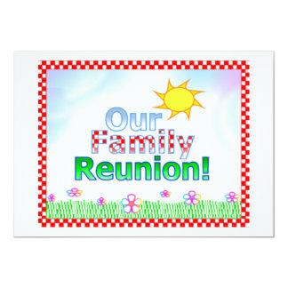 Nuestra invitación de la reunión de familia