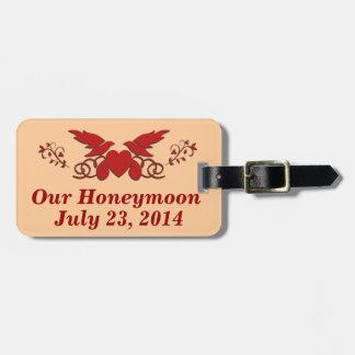 Nuestra luna de miel etiquetas para maletas