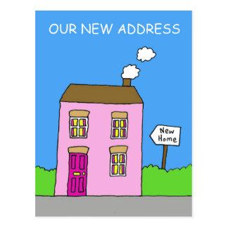 Nuestra nueva dirección, casa rosada postal