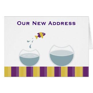 Nuestra nueva dirección tarjeta de felicitación