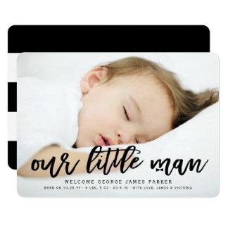Nuestra pequeña invitación del nacimiento de la invitación 12,7 x 17,8 cm