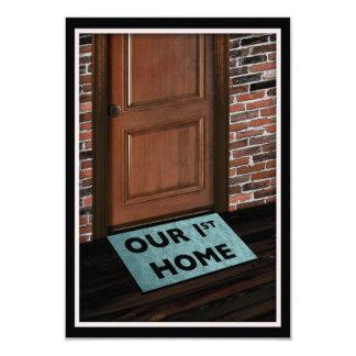 nuestra primera estera de puerta casera invitación 8,9 x 12,7 cm
