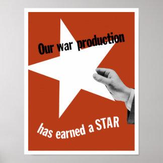 Nuestra producción de la guerra ha ganado una póster