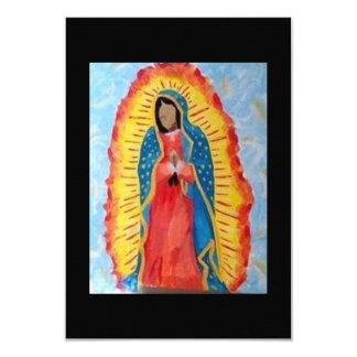 Nuestra señora de Guadalupe Invitación 8,9 X 12,7 Cm