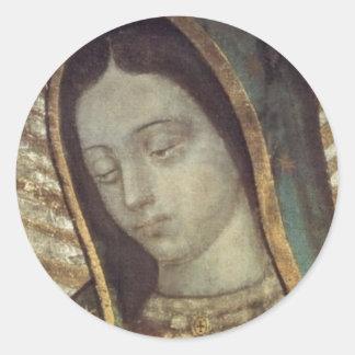 Nuestra señora de Guadalupe Pegatina Redonda