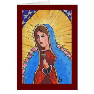Nuestra señora de Guadalupe - tarjeta de