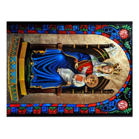 Nuestra señora de la postal de Walsingham