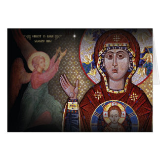 Nuestra señora de la tarjeta de Navidad ortodoxa
