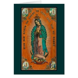 Nuestra señora Of Guadalupe Tarjeta Pequeña