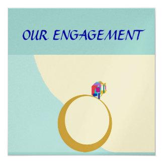 Nuestra tarjeta de encargo de Engagement>Zazzle Invitación 13,3 Cm X 13,3cm
