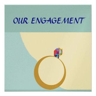Nuestra tarjeta de encargo de Engagement Zazzle Invitaciones Personalizada