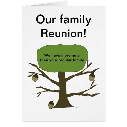 Nuestra tarjeta de la reunión de familia