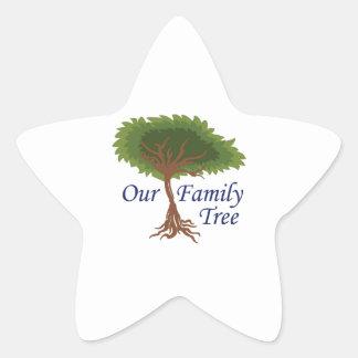 nuestro árbol de familia calcomanía forma de estrella personalizadas