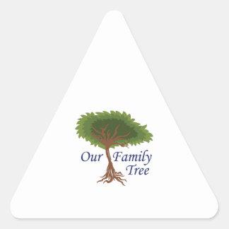 nuestro árbol de familia calcomanía de trianguladas