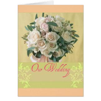 Nuestro boda tarjeta de felicitación