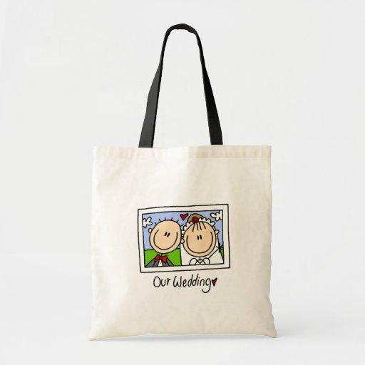 Nuestro bolso del boda bolsa tela barata