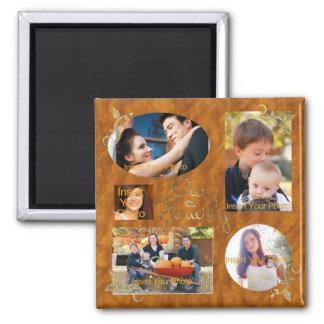 Nuestro collage del álbum de foto de familia imán