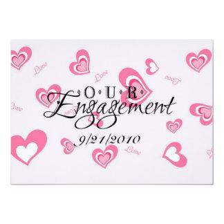 Nuestro compromiso invitación 12,7 x 17,8 cm