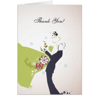 Nuestro día de boda - gracias cardar tarjeta pequeña